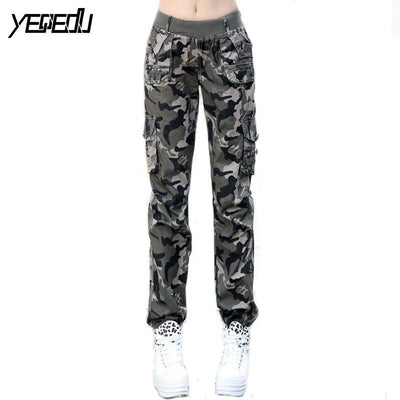 #0904 2017 Summer Camouflage pants women Cargo pants women Military trousers Fashion Casual Loose Baggy pants Army women S-XXXL - Dailytechstudios