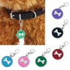 1 PC 20mm Fashion Popular Round Bone Puppy Rhinestone Pendant Pet Jewelry 6 Colors Available Cute Dog Collar Pendants D17 - Dailytechstudios