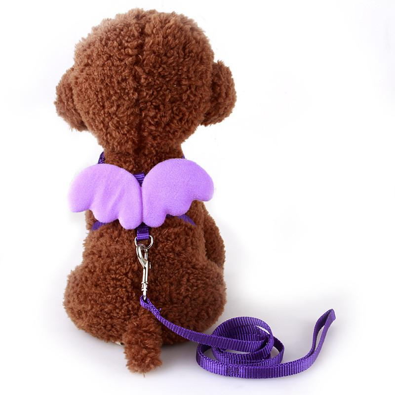 1 PC Adjustable Nylon Wings Pet Leads Harness Strap Collar Comfort Dog Pet Puppy Cat Rabbit Kitten Harness Leash Lead WA998 P30 - Dailytechstudios