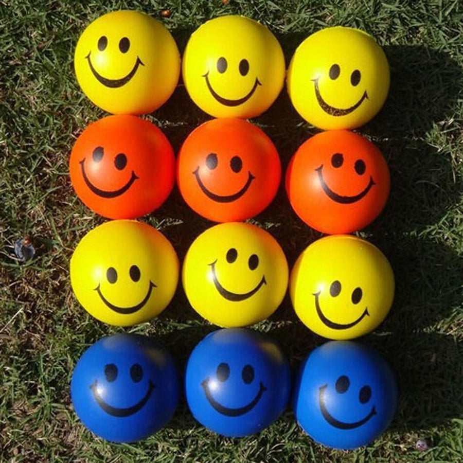 1 PC Mini Neon Smile Face Relaxable Balls Pet dog toys pet supplies Color Random pet toys jouet chien juguetes para perros EW54 - Dailytechstudios