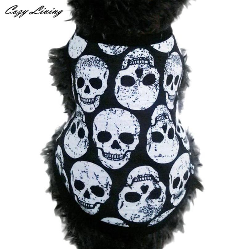 1 PC Pet Clothes For Small Dog XS-L Pet Puppy Small Dog Cat Pet Clothes Skull Vest T-Shirt Apparel Clothes Pet Dog Cat D19 - Dailytechstudios