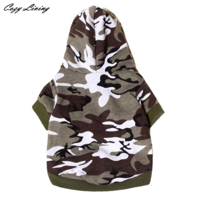 1 PC XS,S,M,L Dog Clothing Pet Sweatshirt Camo Camouflage Coats Hoodies Costume Dogs Clothes Coat For Small Medium Dogs D19 - Dailytechstudios