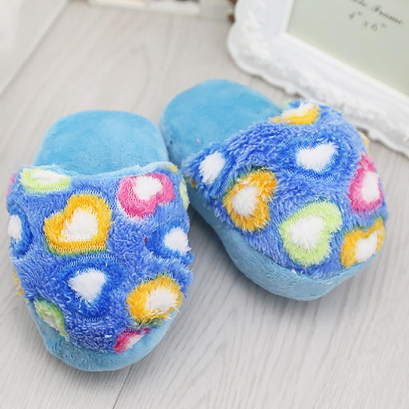 1 Pc Cute Dog Toys Sound Plush Slippers Pet Puppy Chew Squeaker Squeak Plush Sound Toy For Small Dogs Cats Yorkie Pet Products - Dailytechstudios