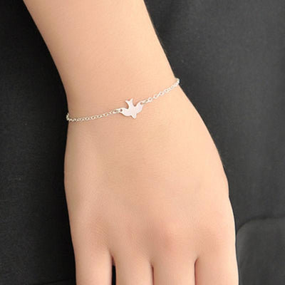 1 Pcs Fashion Bird Pendant Charm Chain Bracelet Swallow Baby Bird Couple Bracelets Jewelry Friendship Gifts Lover free shipping - Dailytechstudios