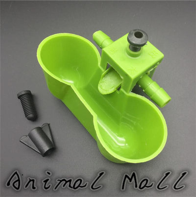 1 Pcs Green The New Water Bowls Quail Drinking Waterer Bird Siamese Water Bowl Feeding Tools - Dailytechstudios