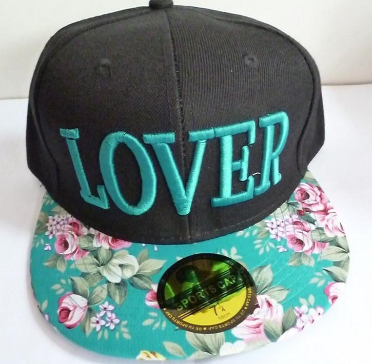 1 Pcs Korean Version New Baseball Cap Flowers LOVER Three-dimensional Embroidery Cloth Hip-hop Dance Women Men Hat 3 Color - Dailytechstudios