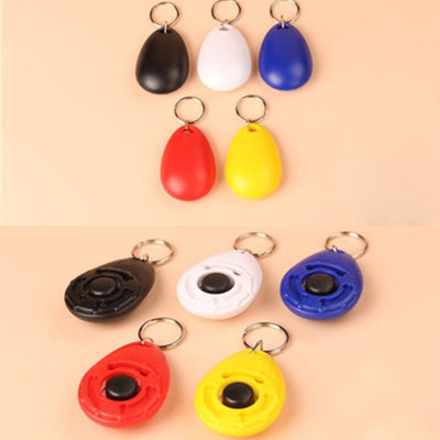 1 Pcs New Dog Pet Clicker Dog Training Trainers With Key Chain Pets Supplies Pet dog cat tools - Dailytechstudios