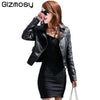 1 Pcs Vintage PU Leather Jacket Women Slim Biker Motorcycle Soft Outwear Faux Leather Zipper Jackets Spring Ladies Coats BN122 - Dailytechstudios