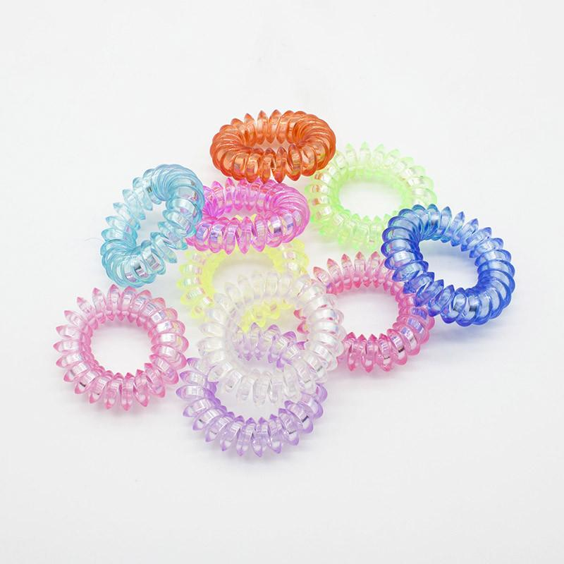 1 Piece Random Color Small 3.5cm High Elastic Candy Colored Telephone Line Hair Band / Hair Accessories / Hair Rope Rubber Band - Dailytechstudios