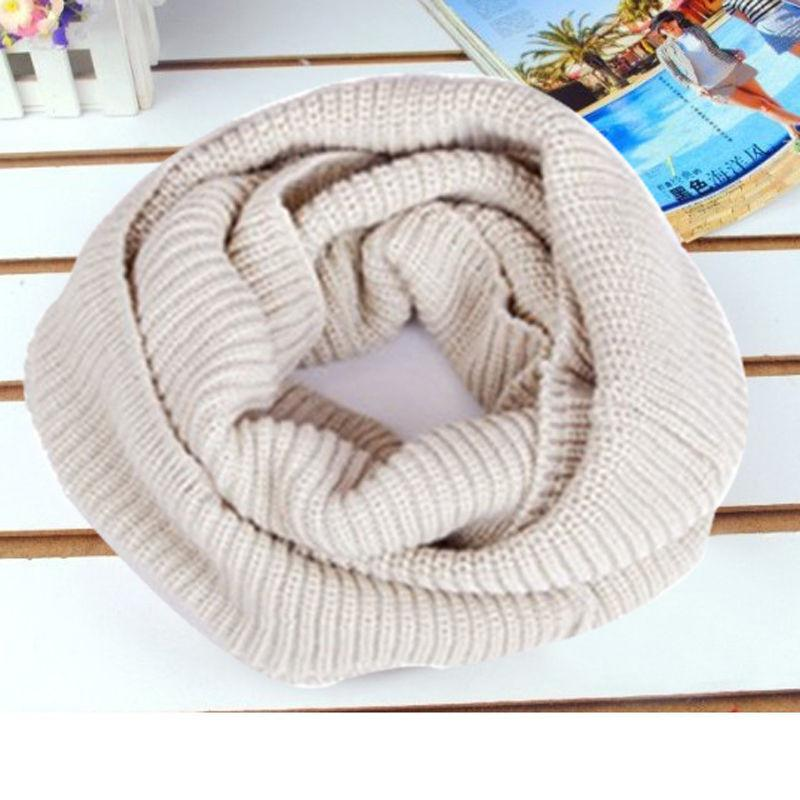 1 pc Soft Women Winter Warm Infinity 2Circle Cable Knit Cowl Neck Long Scarf Shawl clothing accessories - Dailytechstudios
