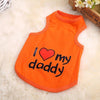 1 pcs Leisure Pet Vest Dog Clothes Pet cloth I Love My Mommy Daddy cotton puppy vest dog vest S M L XL sizes S2 - Dailytechstudios