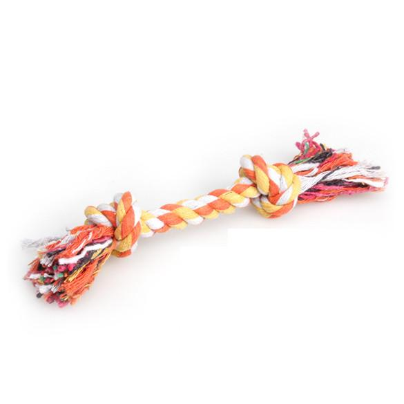 1 pcs Random Color Pets dogs pet supplies Pet Dog Puppy Cotton Chew Knot Toy Durable Braided Bone Rope 15CM Funny Tool - Dailytechstudios