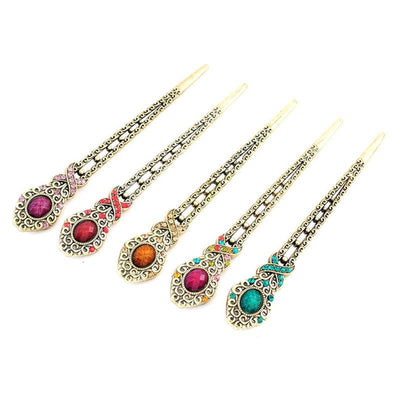 1 pcs Stylish Female Retro Hairpin Hair Clip Crystal Butterfly Flower Combs Hair Stick Hairpins Hair Clip 4 Colors - Dailytechstudios
