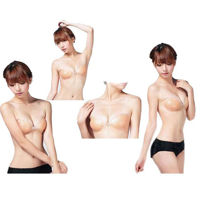 1 pcs Woman Silicone Gel Adhesive Push Up Sticky Strapless Backless Invisible Bra Brassiere Up Cup A B C D For Party Wedding - Dailytechstudios