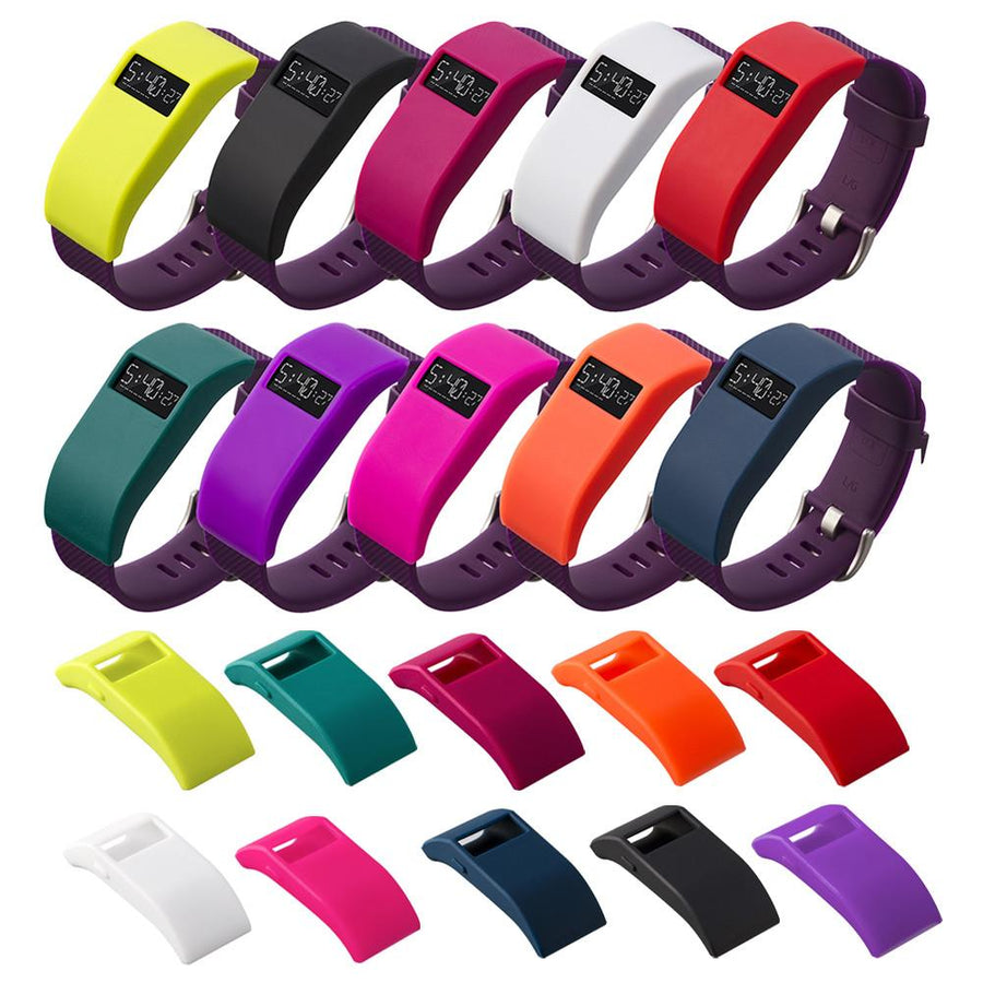10 colors Silicone TPU cover Charge designer sleeve protector With dust plug function For Fitbit Force/Fitbit Charge HR Smart Wristbands peoplemarketing- upcube