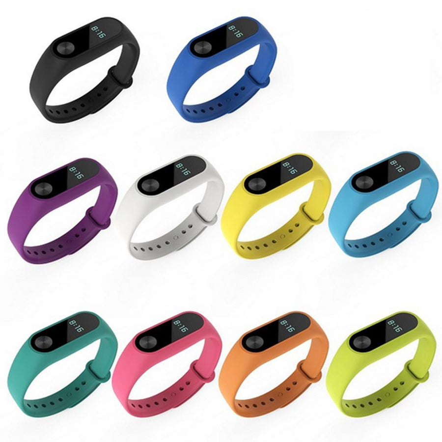 10 pcs Silicone Replacement Watchband Smart Watch Band Strap correas para reloj for Xiaomi Xiami Xiomi Mi Band 2 Smart Bracelet