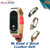 100% Original Strap For Xiaomi Mi Band 2 Metal Leather Belt Bracelet For MiBand 2 Wristbands Replace Accessories For Mi Band 2