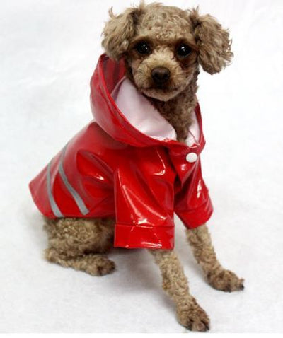 100% Waterproof Dog Raincoat Reflective Strip Pet Dog Clothes Raincoat Glisten For Small Medium Puppy Dog Raincoat Hooded 4Color