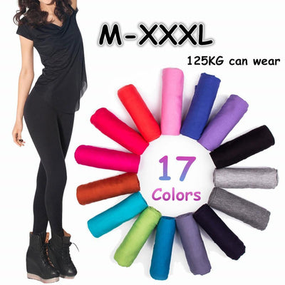 100% Women's fitness Modal Cotton leggings sexy girl leggins plus size elastic gothic women leggings 17 colors leggings Leggings TRYNNA Store- upcube