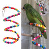 100CM Parrots Toys Bird Swing Exercise Rainbow Hamster Parrot Parakeet Toy Wooden Bird Ladder Birds Shenzhen Vakind Technology Co., Ltd.- upcube