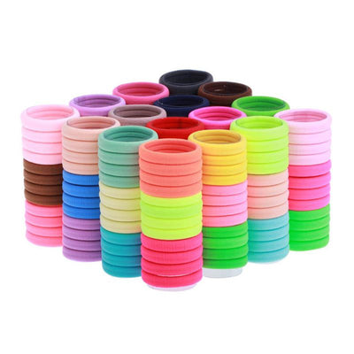100pcs Girl Headdress Hair Accessorios Gum Hair Ties Fashion Hot Elastic Hair Rubber Band Rope Scrunchie Ponytail Holder Bands Baseball Caps 100% Store- upcube