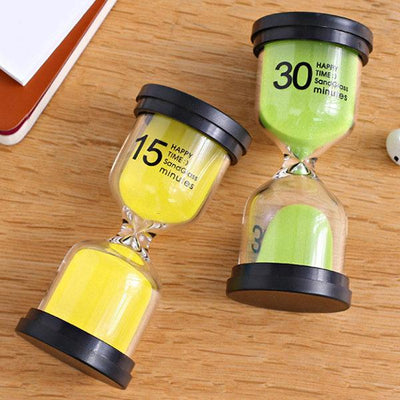 1/3/5/10/15/30 Minutes Sandglass Hourglass Kitchen Timer Clock Children Learning Timer Table Deco - Dailytechstudios