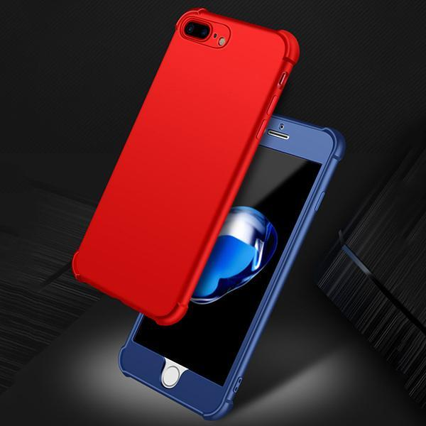 360 Protection Anti Shock Armor Soft Case for iPhone X 8 7 Plus 6s 5s SE