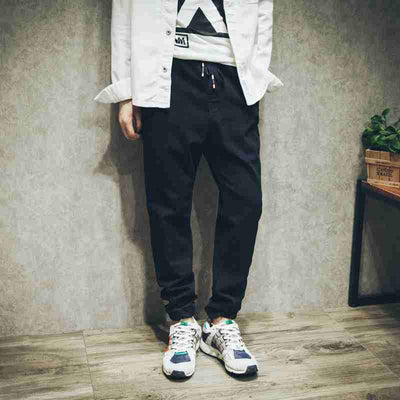 #1426 Summer 2017 Elastic waist Harem pants men Fashion Loose Elastic cotton Big size Hip hop pants Streetwear Black Joggers men - Dailytechstudios