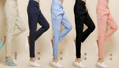 #1604 Linen pants women 2017 Summer trousers Ankle-length Pantalon femme Loose Baggy pants women Sarouel femme Harem pants women - Dailytechstudios