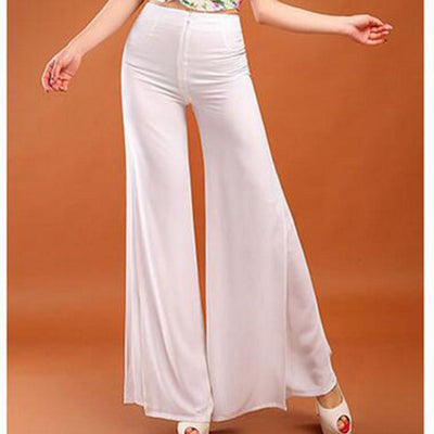 #1628 Summer Wide leg pants women Chiffon Trousers Skirt pants Joggers women Size zipper Plus size feminino Flared pants XXXXL - Dailytechstudios