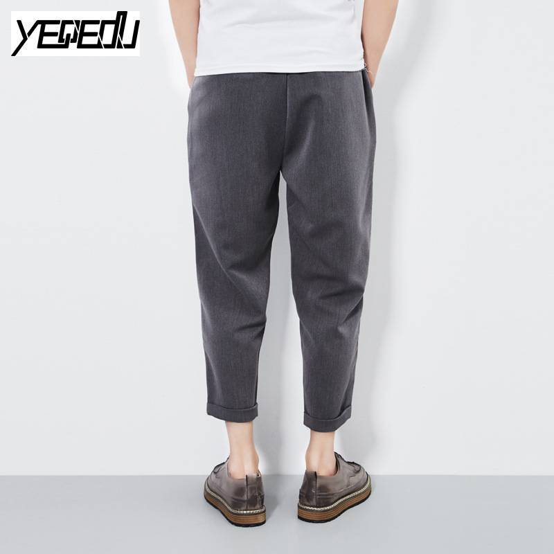 #1644 2017 Spring summer Harem pants men Ankle-length Loose Big size 5XL Harajuku trousers Punk Pantalon large Fake two pieces - Dailytechstudios