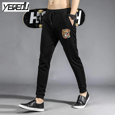 #1662 Harajuku Jogger pants men Compression sweatpants Black harem pants men Sweat pants Hip hop Embroidery Ankle banded 4XL - Dailytechstudios