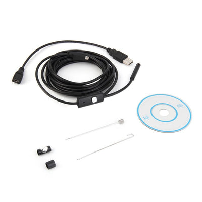 1M/1.5M/2M/3.5M 7mm Lens HD 480P USB OTG Snake Endoscope Waterproof 6 LEDs Inspection Pipe Camera Borescope For Android Phone PC Surveillance YKS Wholesale Store- upcube