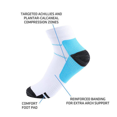 1Pair Hot Sale Unisex Women Men Foot Compression Socks For Plantar Fasciitis Heel Spurs Arch Pain Breathable Chinlon  Socks Socks okdeals major Store- upcube