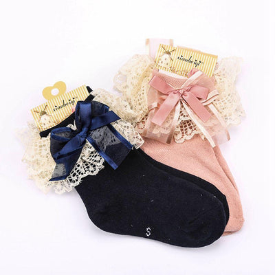 1Pair New Fashion Spring Summer Cute Baby Girls Lace Ruffle Frilly Ankle Socks Sweet Princess Cotton Short Socks Socks Malaysian monkey of Debbie_- upcube