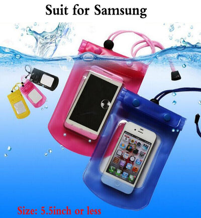 1pcs Outdoor travel swim dive submersible For Samsung Galaxy S4 S5 S6 S7 S8 edge plus A3 A5 A7 C5 Pro Waterproof Bag case cover Fitted Cases Ricestate NO.2 Store- upcube