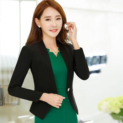 1f84c609221 1pcs Women s plus size jacket blazers 2017 Summer Cotton blended Slim Fit small  Suit Jackets ladies