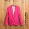 2014 Fashion ZA Womens Tunic Foldable Sleeve Blazer Jacket Candy Color Female Suit  clothing One Button Cardigan Coat Blazers BAIYIMO APPAREL(Offer Drop Shipping,OEM) Store- upcube