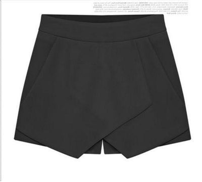 2015 Hot Korean Fashion Tiered Asymmetric Wrap Shorts Skorts Skirts Mini Short Pants womens shorts Ivy X 's store- upcube