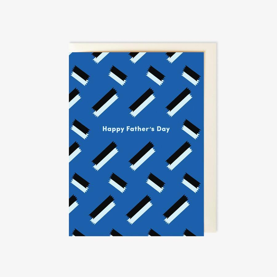 #7350  Colorblock Fathers Day Card - Dailytechstudios