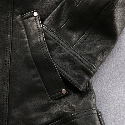 2016 New Men's Genuine Leather Jacket Vegetable tanning Black Lapel Epaulet Sheepskin Men Winter Slim Fit Russian Coats Parka Cowhide and sheepskin FACTORY Store- upcube