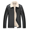 2017 New Fashion Male Leather Jacket Plus Size XXXL 4XL  Black Orange Mens  Collar genuine Coats