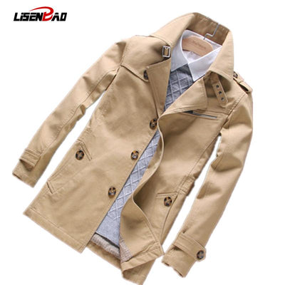 2017 autumn new men's casual long section men jacket fashion Slim thin section men coat Men Spring Overcoat Jacket Outerwear 5XL