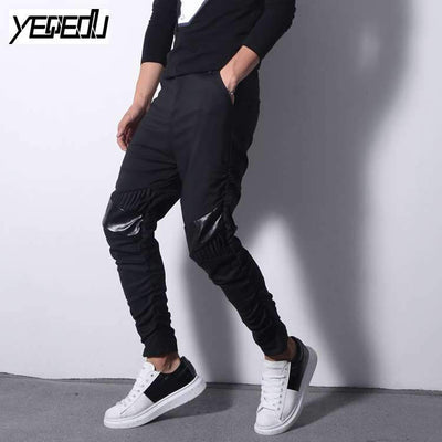 #2229 Slim Elastic trousers men Casual Harem pants men Hip hop pants Ropa-casual-hombre Joggers Pantalon homme brand-clothing - Dailytechstudios