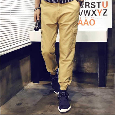 #2811 Mens pants casual fashion Khaki Harajuku Hip hop pants Baggy cargo pants men Large size Joggers men Loose Military pants - Dailytechstudios
