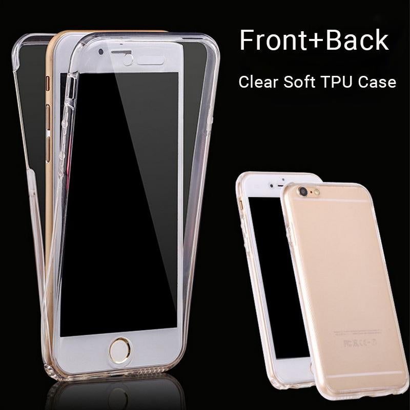 360 Degree Full Body Protection Cover Case For iPhone 7 7 plus 6S 6 plus 5 5S SE Transparent Clear Soft TPU Silicone Phone Case