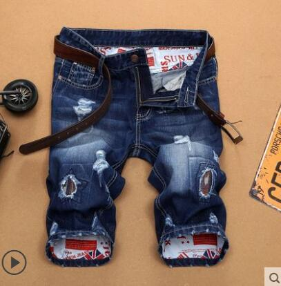 ##3701 2017 Graffiti Denim shorts for men Fashion homme Ripped jeans shorts men Hip hop shorts Beach Male Denim Shorts - Dailytechstudios