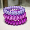 (3pcs) Popular Scrunchies Telephone Wire Gum For Ladies Elastic Hair Band Rope Candy Colored Bracelet  Large size Scrunchy - Dailytechstudios