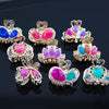 6 Pcs Hair Ornament Rhinestone claw clip Headwear Accessories Crystal Metal Hair Claw Clip for women Jewelry Crab claw hair clip Hair Accessories Beeeee- upcube