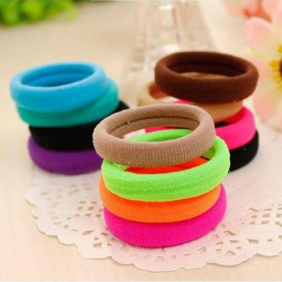 #AD0043 50pcs/lot 3cm Hair rubber band accessories cheapest rezinochki wholesale fluorescence candy colors hair elastics - Dailytechstudios